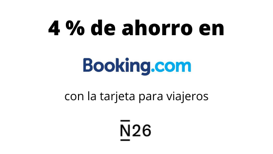 4% de ahorro en Booking con N26
