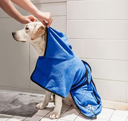 Toalla para Perros Albornoz para Perro S de Microfibra Absorbente